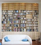 007.wand boekenkast.lades.maple